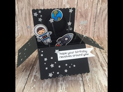 Lawn Fawn - Out Of This World Interactive Box Card