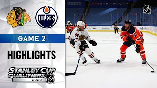 NHL Highlights | Blackhawks @ Oilers, GM2 - Aug. 3, 2020
