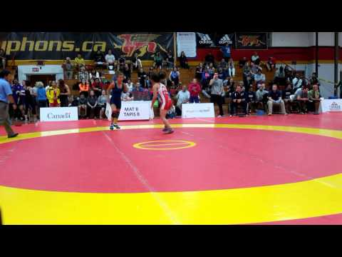 2015 Canada Cup: 53 kg Jasmine Mian (CAN) vs. Kristina McLaren (CAN)