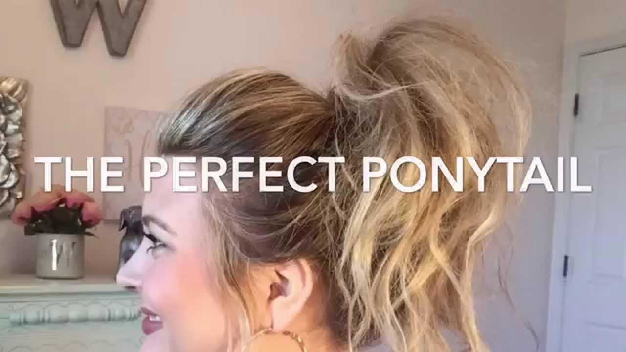 The Perfect Ponytail Tutorialkhloe Kardashian Inspiredwhitney