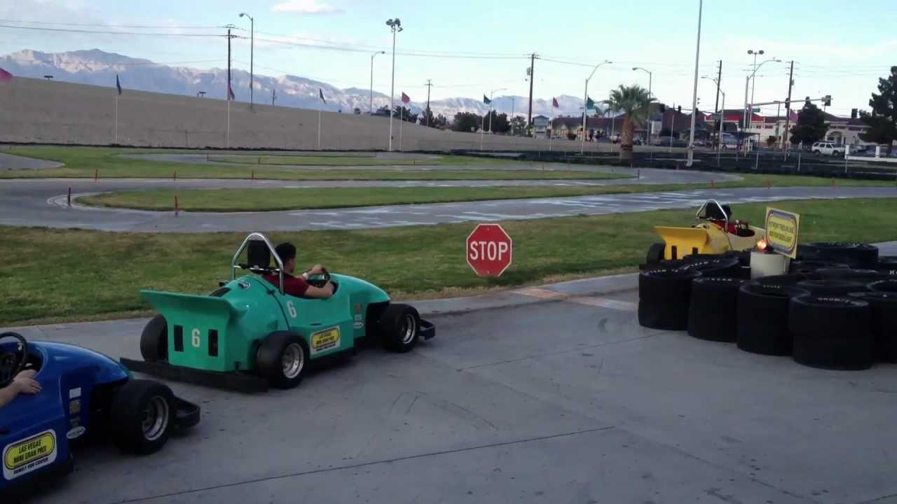 S34n First Time Go Karting Las Vegas Mini Grand Prix Youtube