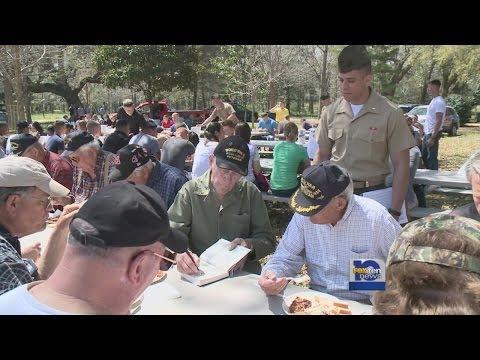 Marines help retired Marine clean property