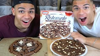 ORIGINAL SCHOKOLADEN PIZZA VS SELBSTGEMACHTE SCHOKOLADEN PIZZA | PrankBrosTV