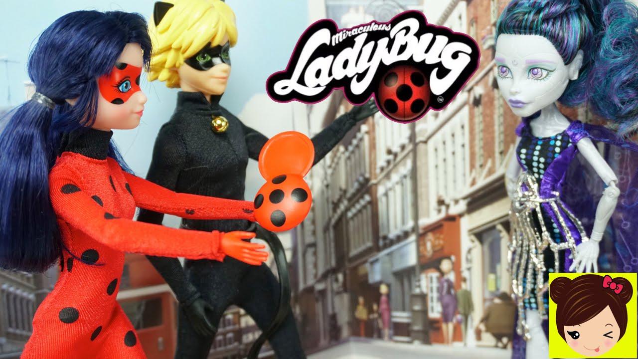 Lady Bug Y Cat Noir Y La Barista Malvada