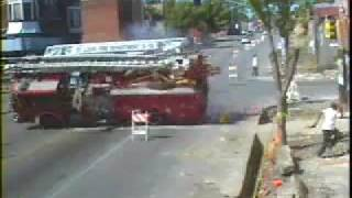 unbelievable fire truck crash