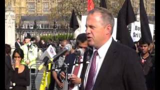Mullivaikkal remembrance day in Parliament square london. 18 May 2010