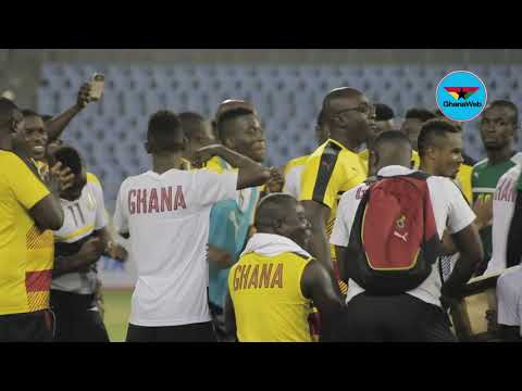 2018 WCQ: Black Stars thrill spectators with jama songs after training