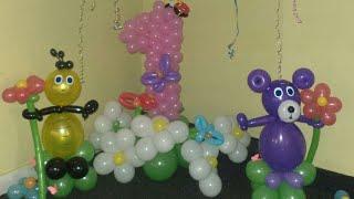 Оформление на годик из шариков в Котовске . Заказать оформление из шаров в Котовске - тел 0506402643