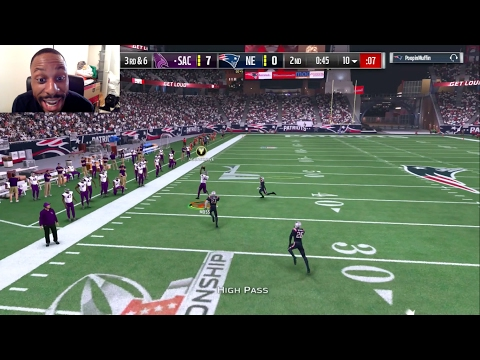 Clutch Intercepts Tom Brady FIVE Times in the MUT17 Playoffs!! Randy Moss Catches a 90yd TD Pass!