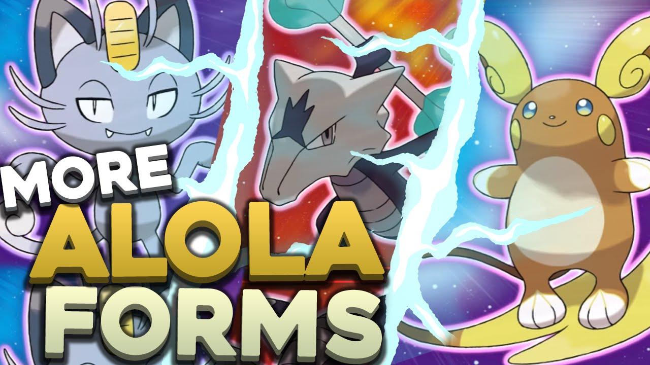 NEW ALOLA FORMS FOR RAICHU, MEOWTH, AND MAROWAK! | Pokemon Sun and ...