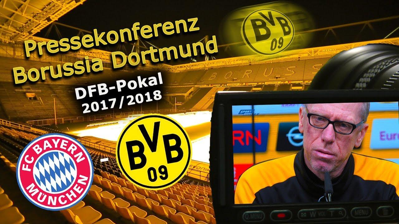 FC Bayern München - Borussia Dortmund: Pk mit Peter Stöger zum DFB-Pokal-Achtelfinale