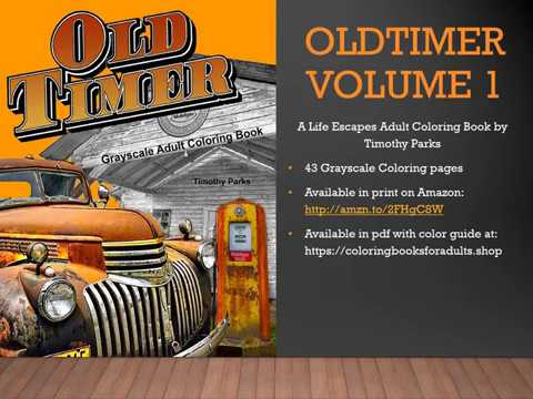 Flip Through Oldtimer 1 Coloring Book For Men Youtube