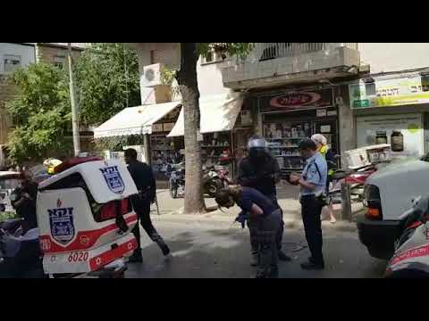 """זירת האירוע ברחוב שטראוס. צילום: תיעוד מבצעי מד""""א"""