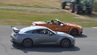 prior design audi r8 vs gt r switzer p800 vs m6 gran coupe dragrace