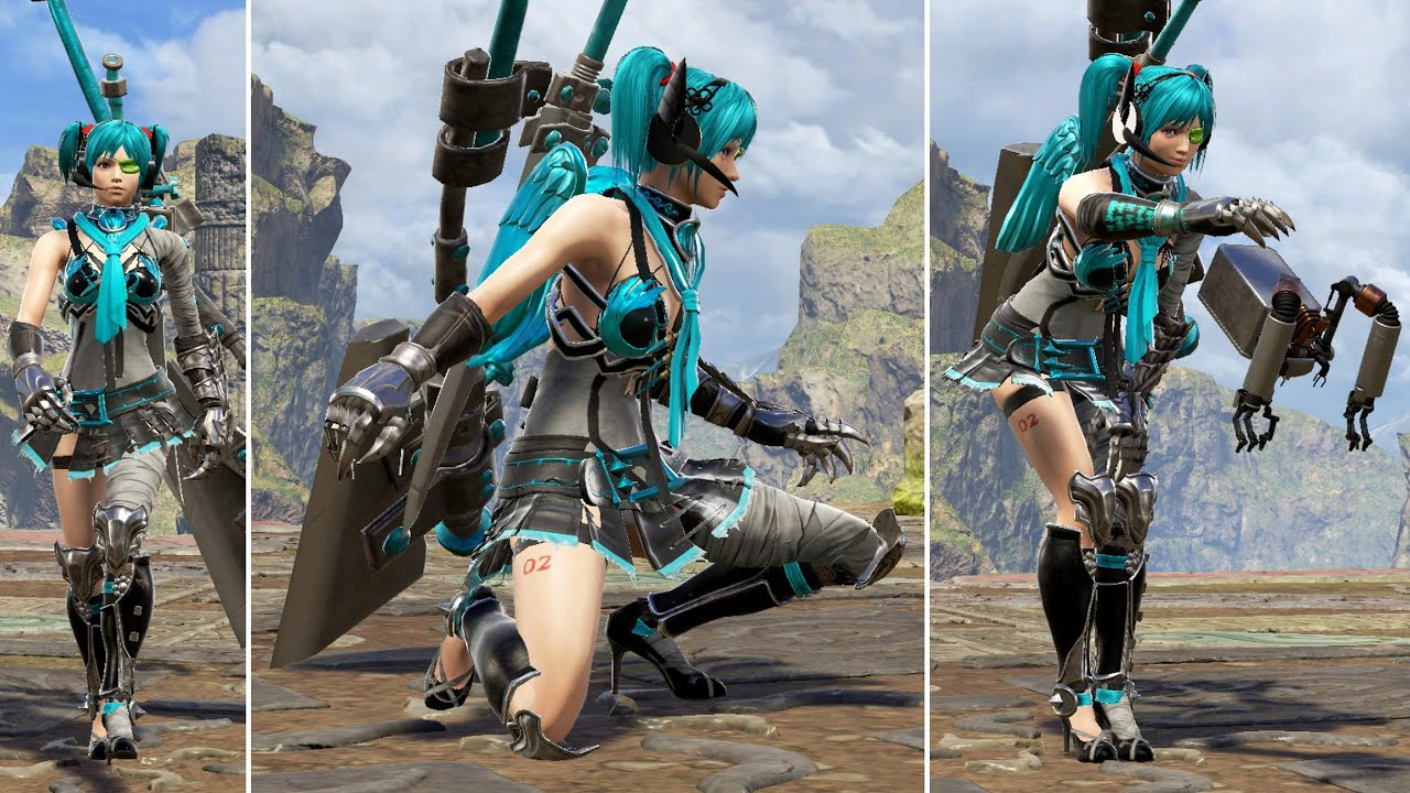 SoulCalibur 6 Character Creation Tutorial: Hatsune Miku (Battloid Outfit)  by Spartan40