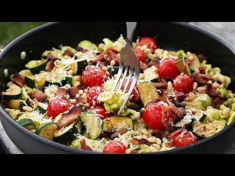 Camping Recipes: One Pot Pesto Pasta
