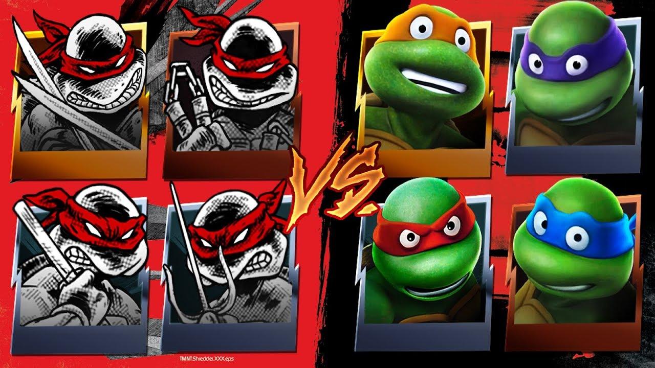 Original Turtles VS Classic Turtles TMNT Legends YouTube