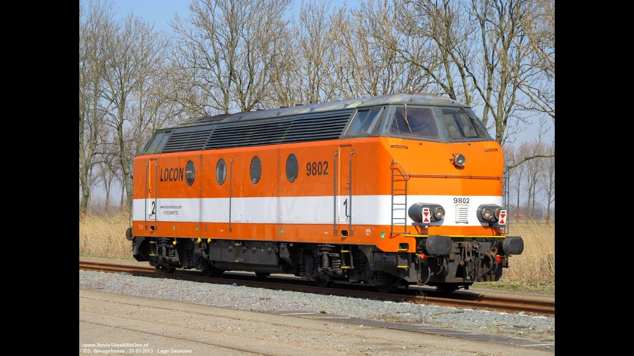 Locon 9802 (Ex NMBS 6325) bringing an empty coal train to OVET Vlissingen  Sloe (NL) 23-02-2014