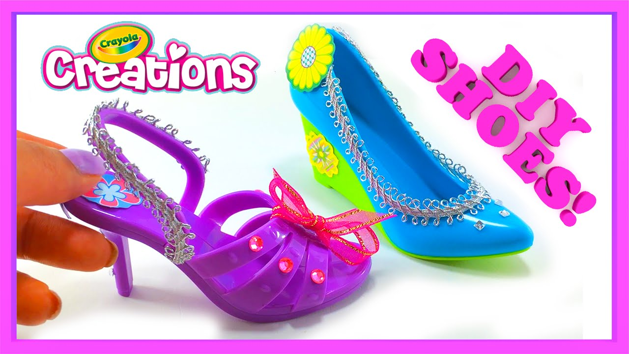 Crayola Creations Hot Heels Decorate Your Own Shoes Craft Video Style 1 Youtube