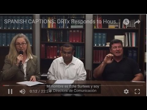 "SPANISH CAPTIONS: DRTx Responds to Houston Chronicle ""Denied"" Investigative Report"