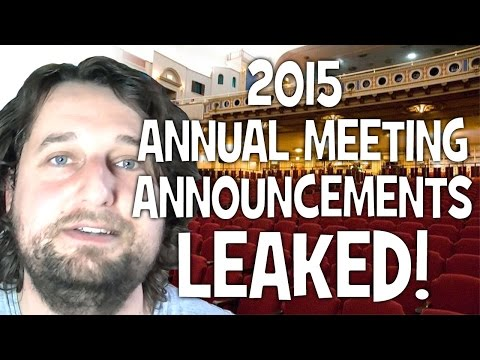 2015 Annual Meeting announcements LEAKED! - Cedars' vlog no. 91
