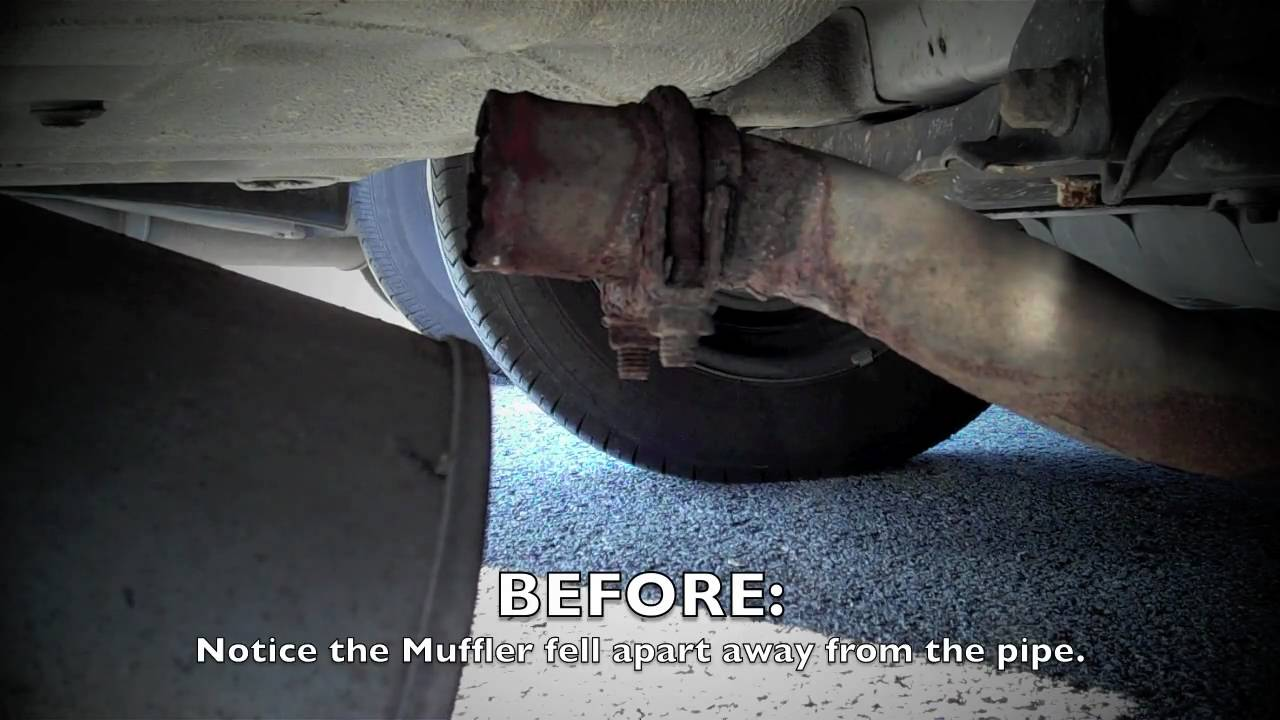 1996    Honda    Accord Muffler Repair  YouTube