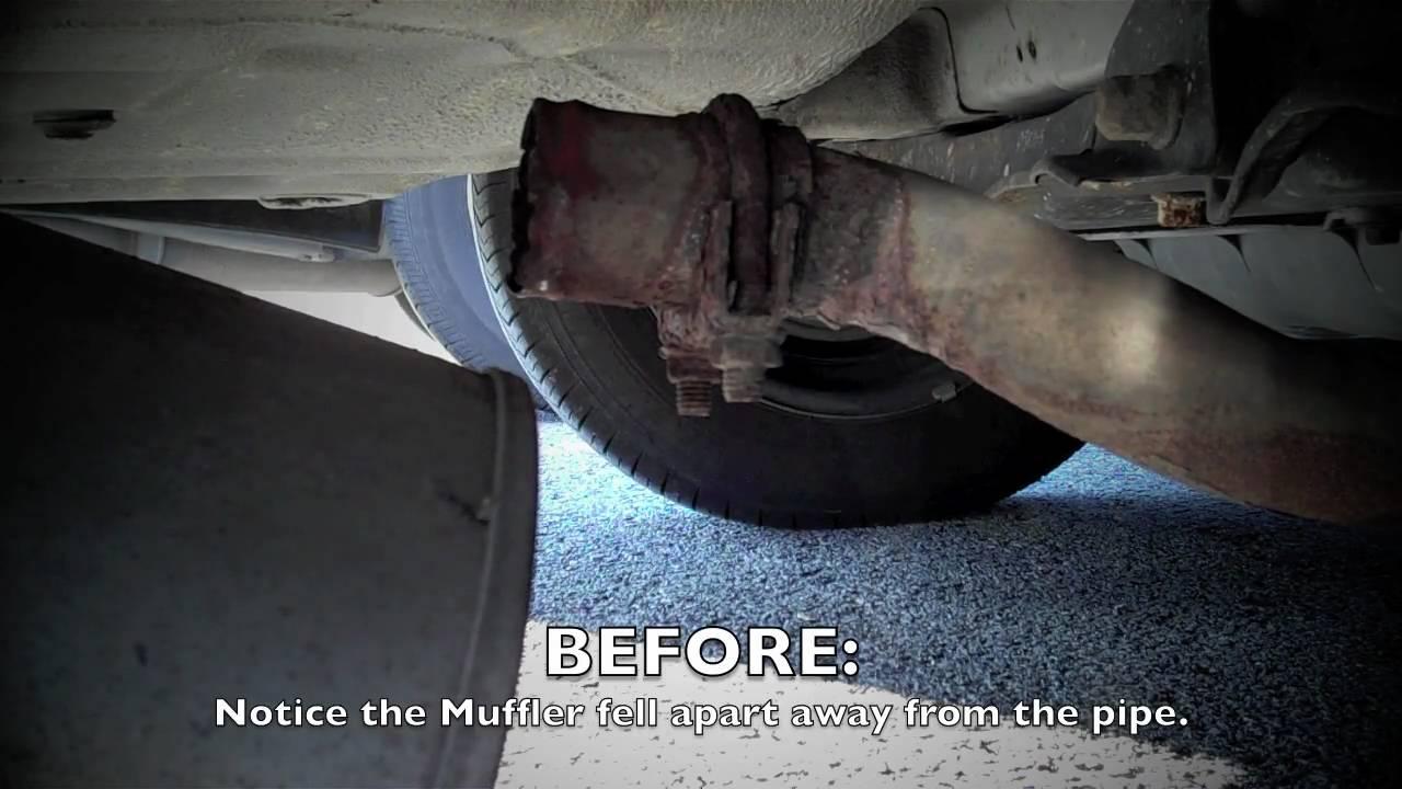 1996 Honda Accord Muffler Repair  YouTube