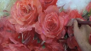 Как написать розы.How to paint roses.Oil painting by Oleg Buiko. Живопись маслом