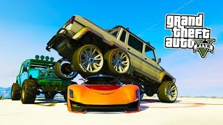 GTA 5 DEMOLITION DERBY SKYSCRAPER! GTA 5 Online Monster Truck Demolition Derby! (GTA 5 PS4 Gameplay)