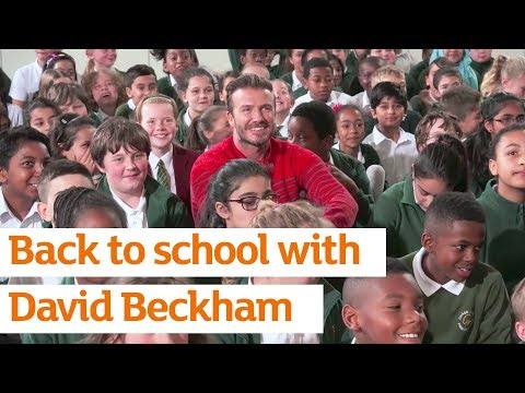 David Beckham Returns To His Primary School With Sainsbury's Active Kids