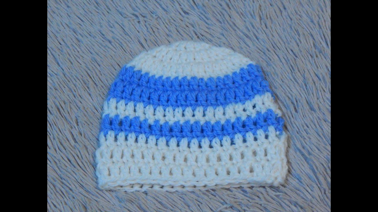 шапка крючком схема для новорожденного