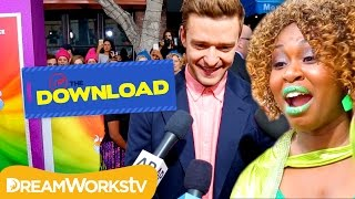 Trolls Stars sing CAN'T STOP THE FEELING at Trolls Movie Premiere | THE DREAMWORKS DOWNLOAD