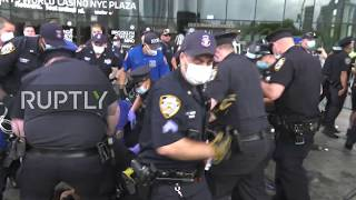 USA: Clashes and pepper spray in NYC George Floyd killing demo, several arrested