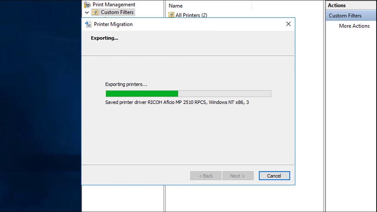 Printer Migration Tool Windows Server 2016 - YouTube