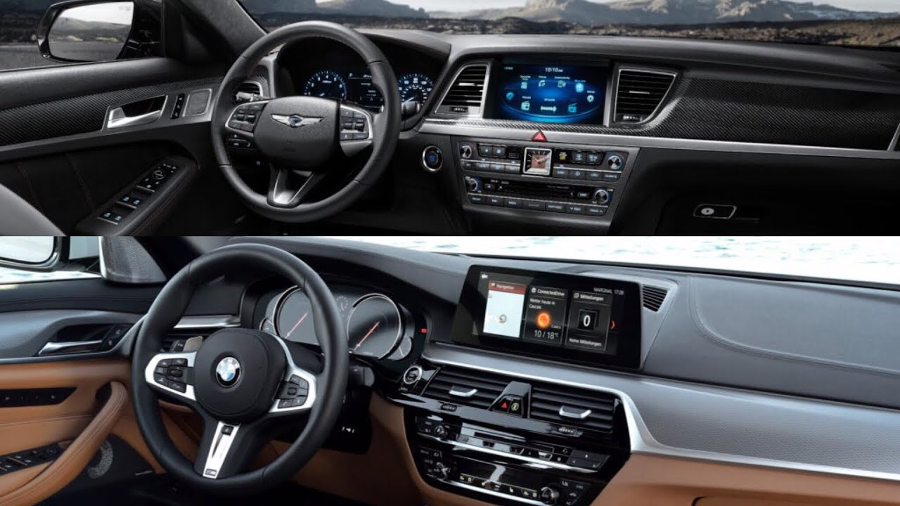 2018 Bmw 540i Vs 2018 Hyundai Genesis 380 Sport Youtube
