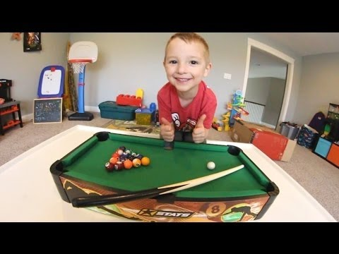FATHER SON MINI POOL!Best terrible 3D video
