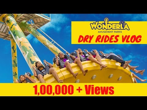 WONDERLA BANGALORE IN 4K CRAZY ADVENTURES - DRY RIDES | DANGEROUS RIDES IN WONDERLA AMUSEMENT PARK