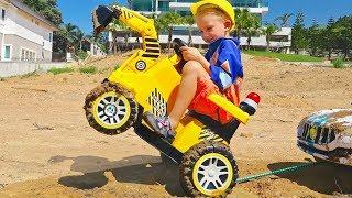Vlad mengendarai mobil truk penggali untuk menolong Nikita kecil