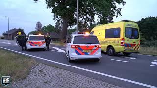 Duo vlucht na crash in Ittervoort