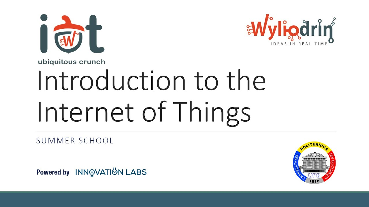 Lecture 1: Introduction to the Internet of Things