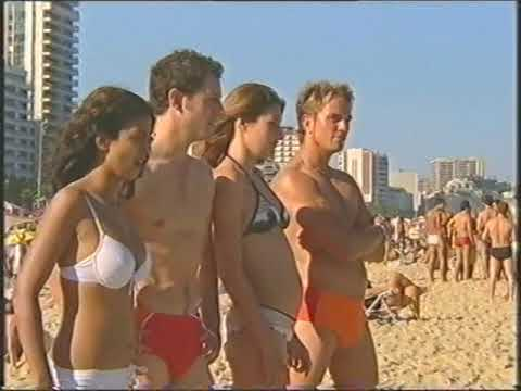 Blue Peter Ipanema beach Rio Brazil Konnie Huq, Liz Barker, Simon Thomas, Matt Baker