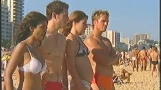 Blue Peter Ipanema beach Rio Brazil Konnie Huq, Liz Barker, Simon Thomas, Matt Baker