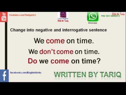 Present simple tense Part Seventeen Practice And Test by Tariq Aziz