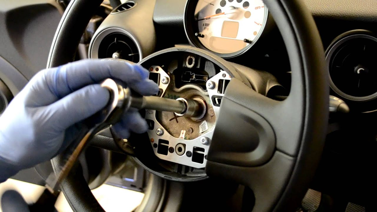 Mini Cooper Air Bag Wiring Harness Schematic Diagrams Engine R56 Steering Wheel Airbag Removal Youtube