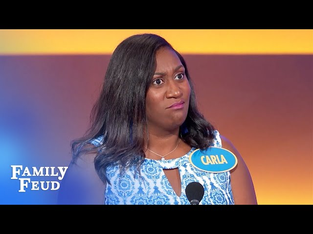 Don't do this when you get really excited! | Family Feud