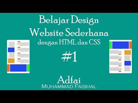 Belajar Design Website Sederhana Dengan HTML Dan CSS #1