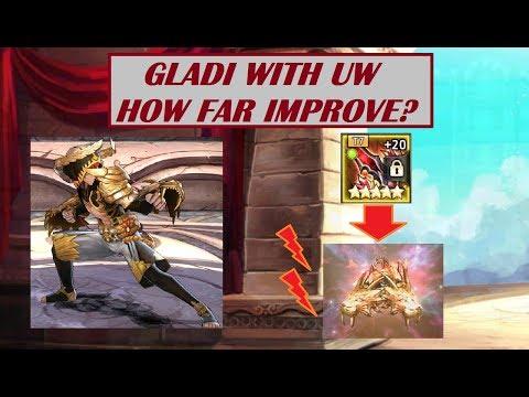 King's Raid - Gladi DPS Improvement Test with UW Beast Fist, Mastra