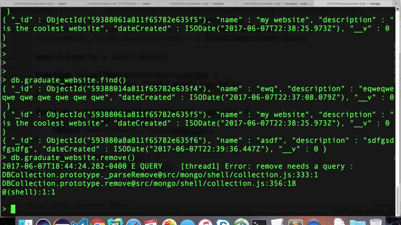 5 13 find websites for user using mongoose in a MEAN app - graduate webdev  summer 1 2017
