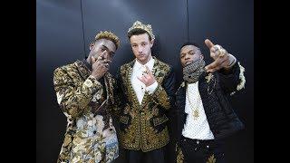 Wizkid & Tinie Tempah at Dolce & Gabbana Summer 2019 Men Fashion Show