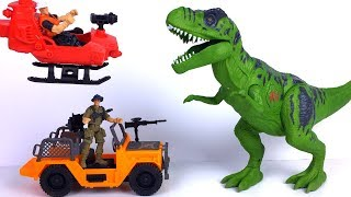 Unboxing Kid Connection Dinosaur Attack Playset With Helicopter Light & Sound T-Rex  Jeep Dino Egg